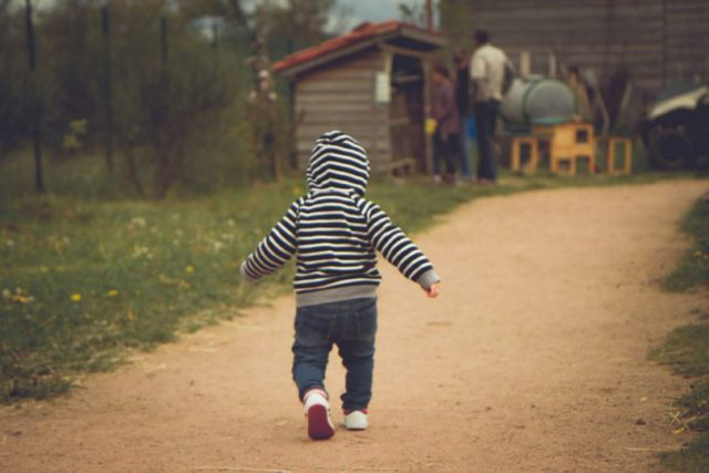 learning to walk as a baby